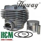 Поршневая Hyway D49 Nikasil для бензорезов Stihl TS 400, Хивей (CK000034)