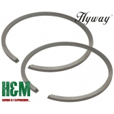 Поршневі кільця Hyway D52 до бензопил Stihl MS 460, 461, 640, 650, бензорізів Stihl GS 461, Хивей (PR000015)