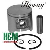 Поршень Hyway D40 для бензопил Husqvarna 40, мотокос Husqvarna 240, Jonsered GR41, RS41, Хивей (PK000032)
