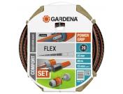 """Шланг садовый поливочный Gardena Flex Comfort, 1/2"""", 20, комплект, Гардена (18034-20.000.00)"""
