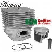 Поршневая Hyway D60 Nikasil MoS2 для бензорезов Husqvarna 3120K, 3122K, K1250, K1260