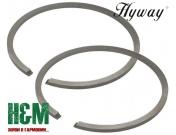 Поршневі кільця Hyway D49x1.5 до мотобурів Stihl BT 360, Хивей (PR000012)