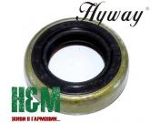 Сальник колінвалу Hyway 13x22x5 для мотообприскувачів, повітродувок Stihl SR 320, 340, 400, 420, BR 320, 340, 380, 400, 420, Хивей (OS000008)