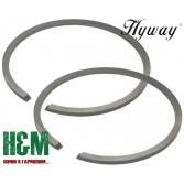 Поршневые кольца Hyway D56 для бензопил Husqvarna 395, бензорезов Husqvarna K960, K970, Хивей (PR000044)