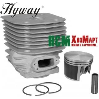 Поршнева Hyway D60 Nikasil MoS2 до бензорізів Husqvarna 3120K, 3122K, K1250, K1260