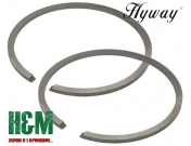 Поршневые кольца Hyway D49x1.5 для мотобуров Stihl BT 360, Хивей (PR000012)